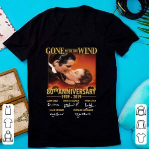 Awesome Gone with The Wind 80th Anniversary 1939-2019 Signature shirt