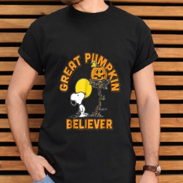 Awesome Great Pumpkin Believer Snoopy Halloween shirt