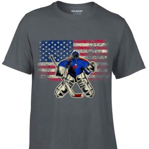 Awesome Ice Hockey Goalie USA Flag shirt
