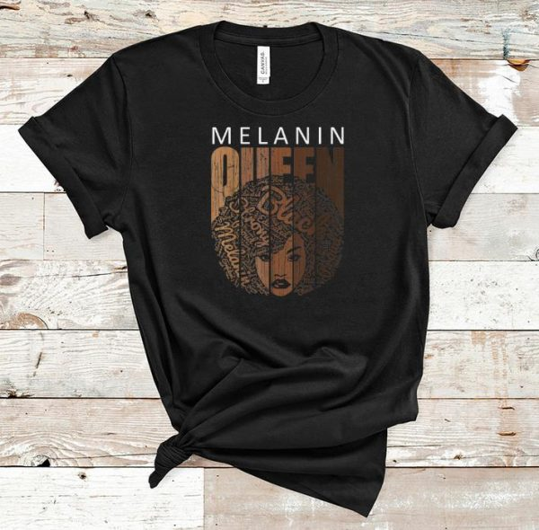 Awesome Natural Afro Melanin Queen African American shirt