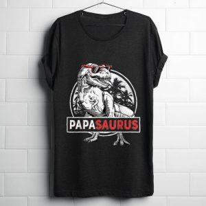 Awesome T rex Papa Saurus Dinosaur Sunglass shirt