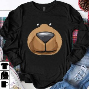 Beautiful Cute Bear Face Costume Funny Halloween Teddy Diy Gift shirt