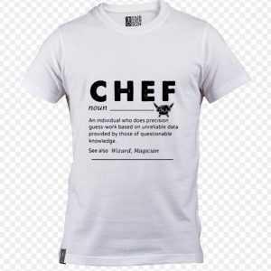 Chef an individual who does precision guess-work shirt sweater