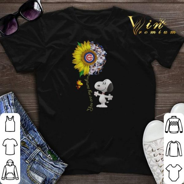 Chicago Cubs sunflower Snoopy Woodstock you are my sunshine shirt