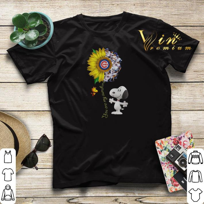 Chicago Cubs sunflower Snoopy Woodstock you are my sunshine shirt 4 - Chicago Cubs sunflower Snoopy Woodstock you are my sunshine shirt