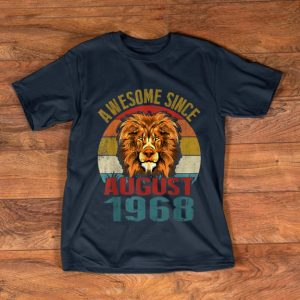 Hot Awesome Since August 1968 Lion Vintage shirt