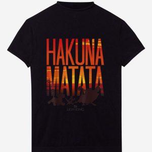 Hot Disney Lion King Hakuna Matata Sunset shirt
