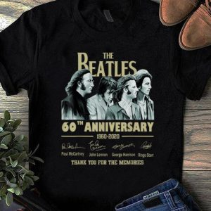 Hot The Beatles 60th Anniversary Thank You For Memories Signature shirt