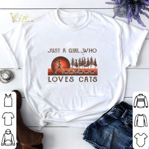 Just a girl who loves cats sunset shirt sweater