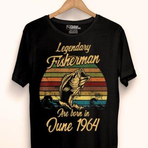 Legendary Fisherman June 1964 Bday Fishing shirt