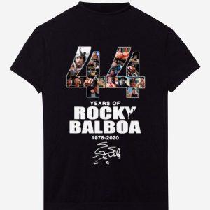 Nice 44 Years Of Rocky Balboa 1976-2020 signature shirt