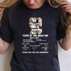 Nice 9 Years of One Direction thank you for the memories signature shirt