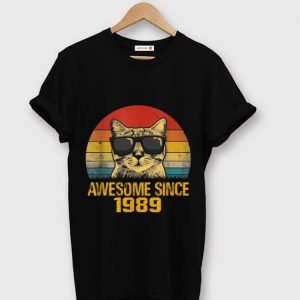 Nice Cat Awesome Since 1989 Vintage shirt
