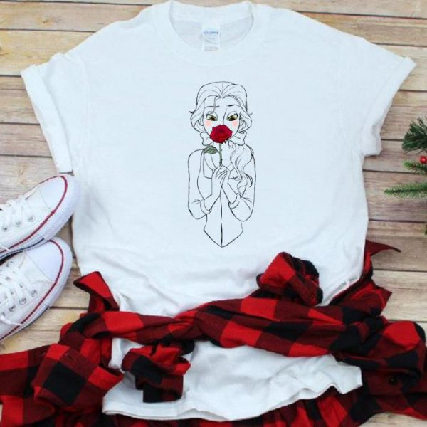 Nice Disney Beauty And The Beast Belle And Rose shirt