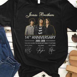 Nice Jonas Brothers 14th Anniversary Signature shirt