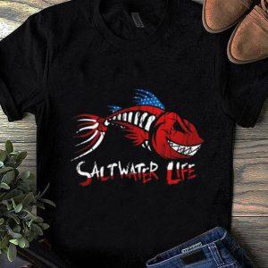 Nice Saltwater Life fishbone American shirt