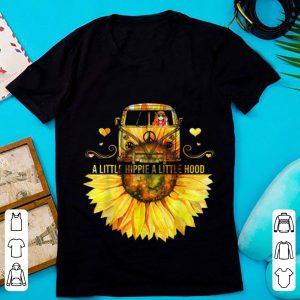 Nice Sunflower Peace Bus A Little Hippie A Little Hood shirt