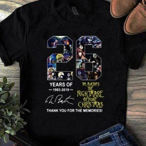 Official 26 Years of Tim Burton's The Nightmare Before Christmas signature shirt