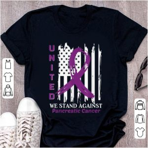 Official United we stand against Pancreatic Cancer American Flag shirt