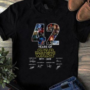 Original 42 Years Of Star Wars Signature shirt