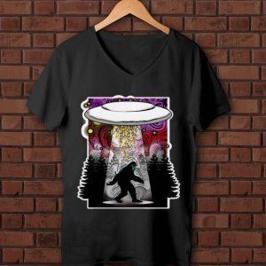 Original Extraterrestrial Flying Saucer Sasquatch Abduction shirt