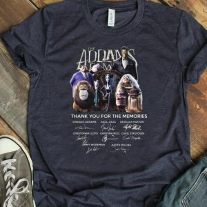 Original The Addams Family Thank You For The Memories Signature shirt