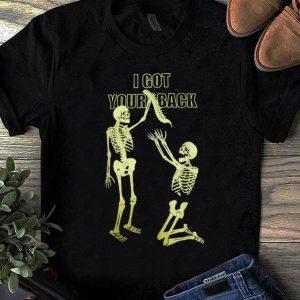 Premium Halloween Skeleton I Got Your Back Graphic Funny shirt