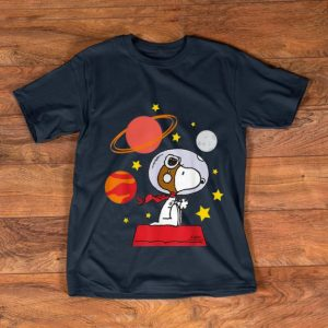 Premium Peanuts Snoopy Space Pilot Mars, Moon And Saturn shirt