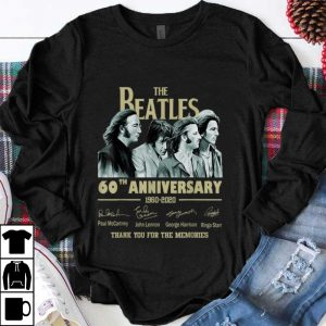 Premium The Beatles 60th Anniversary Thank You For Memories Signature shirt