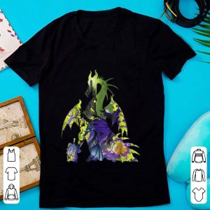 Pretty Disney Sleeping Beauty Maleficent Dragon Silhouette shirt