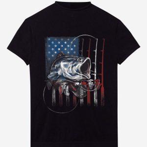 Pretty Fishing American Flag shirt