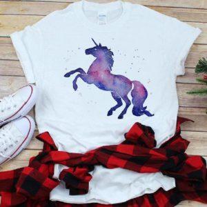 Pretty Galaxy Unicorn Watercolor shirt