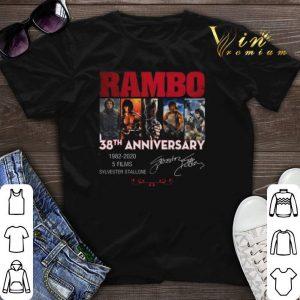 Signatures Rambo 38th anniversary 1982-2020 Sylvester Stallone shirt