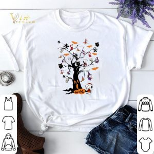 Snoopy Woodstock owl bats ghost Boo on the tree Halloween shirt