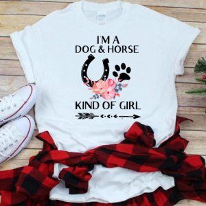 Top I'm a Dog and Horse Kind of Girl Paw Flower shirt