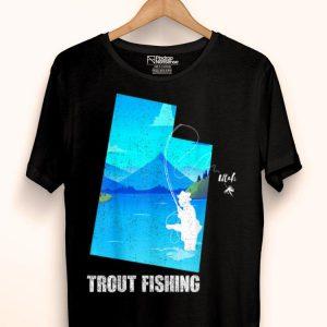 Utah Trout Fishing Rainbow Brown Fisherman shirt
