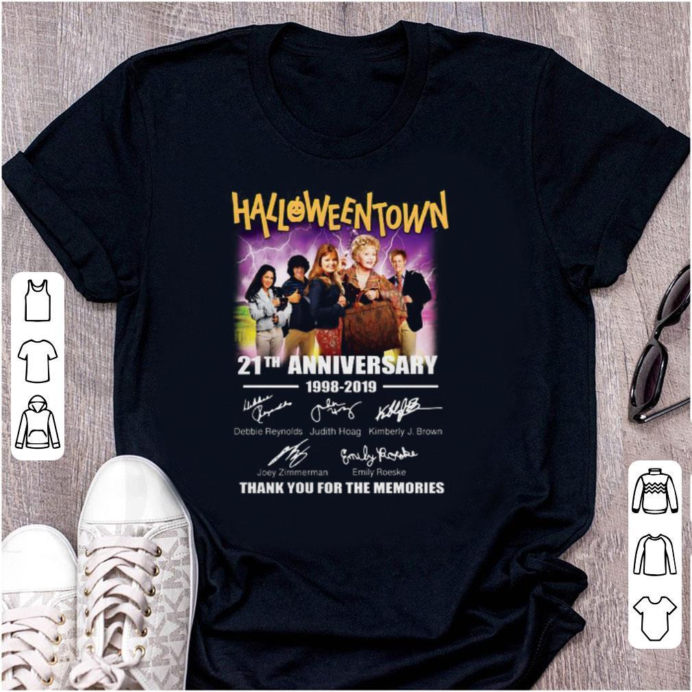 Awesome 21th Anniversary 1998 2019 Halloweentown Signatures shirt 1 - Awesome 21th Anniversary 1998-2019 Halloweentown Signatures shirt