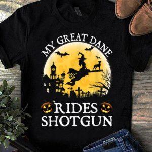 Awesome Belgian Great Dane Rides Shotgun Halloween Costume shirt