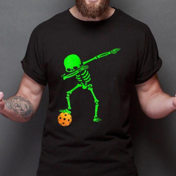 Awesome Dabbing Skeleton Pickleball Halloween shirt