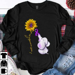 Awesome Elephant I Will Remember For You Sunflower Alzheimer's Awareness shirt
