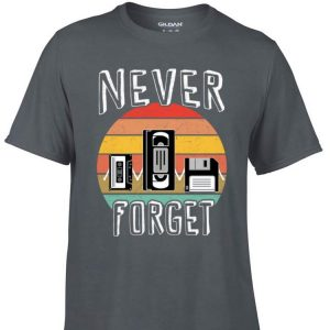 Awesome Never Forget VHS Tape Cassette Tape shirt
