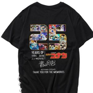 Awesome Thank You For The Memories 25 Years Of Detective Conan 1994-2019 shirt