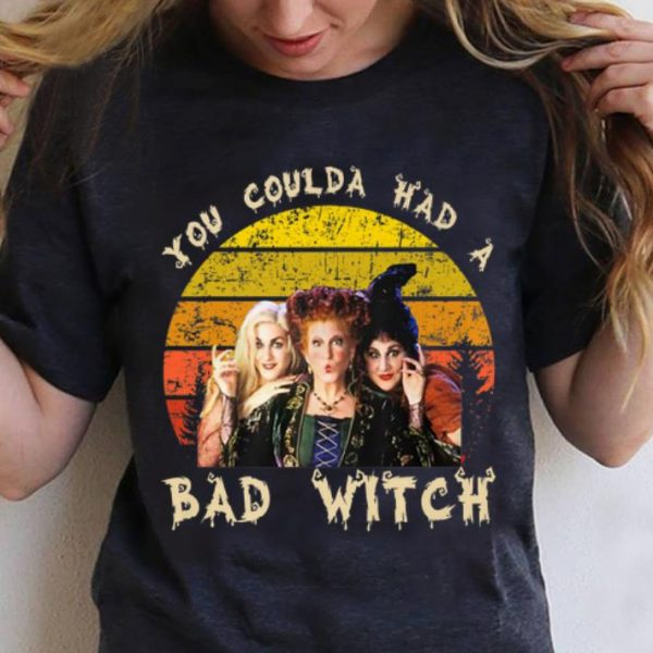 Awesome Vintage Hocus Pocus You Coulda Had A Bad Witch shirt