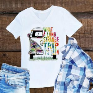 Awesome What A Long Strange Trip It's Been Hippie Bus shirt