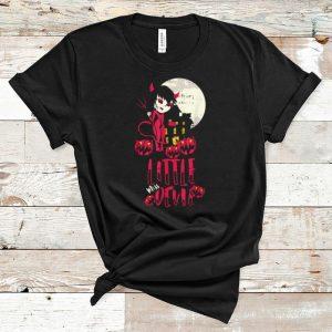 Beautiful Litter Miss Devil Costume Cool Easy Halloween Gift shirt