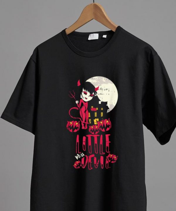 Beautiful Litter Miss Devil Costume Cool Easy Halloween Gift shirt