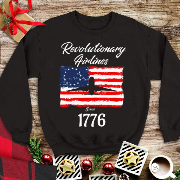 Betsy Ross Flag Revolutionary Airlines since 1776 shirt