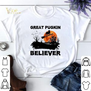 Halloween Pug Great pugkin believer sunset shirt
