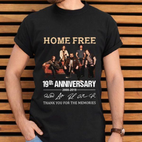 Hot 19th Anniversary 2000-2019 Signatures Home Free shirt