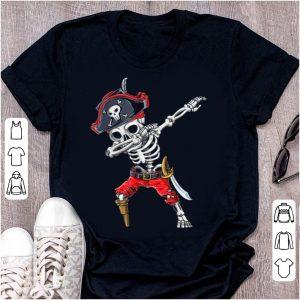 Hot Dabbing Skeleton Pirate Halloween Kids Jolly Roger shirt